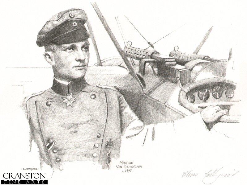 CCP62P. Manfred Von Richthofen c.1917 by Chris Collingwood.