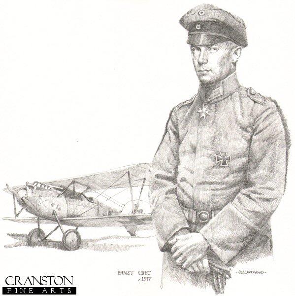CCP63P. German Ace Ernst Udet c.1917 by Chris Collingwood.