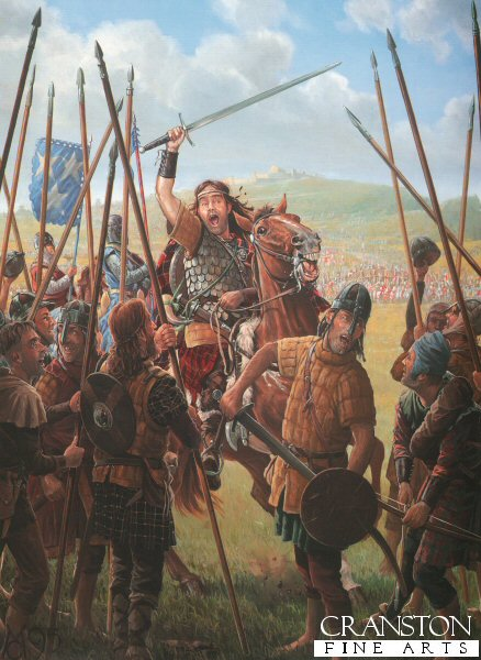 With Edward I absent from Scotland the land soon slips once more into open insurrection. Though not of noble birth, William Wallace, by brutally slaying the Sheriff of Lanark in vengeance for the murder of Wallaces new bride and her servants, soon comes to embody the Scottish Nationalist cause. Through his popularity and military skill, he is able to rapidly unify the rebellious bands into a single, cohesive fighting force. An English army is sent north to defeat the Scots and capture Wallace and the only noble to come to Wallaces assistance, is his friend Andrew Murray. Other Scottish landowners are too timid and fear the consequences.  The armies meet at Stirling and the English begin to deploy across the narrow wooden bridge which spans the River Forth. Whilst the English commanders bicker about their battle plan, Wallace seizes the moment and blows his horn. Upon this signal, the massed ranks of Scottish spearmen charge forward across the open boggy ground towards the bridge!
