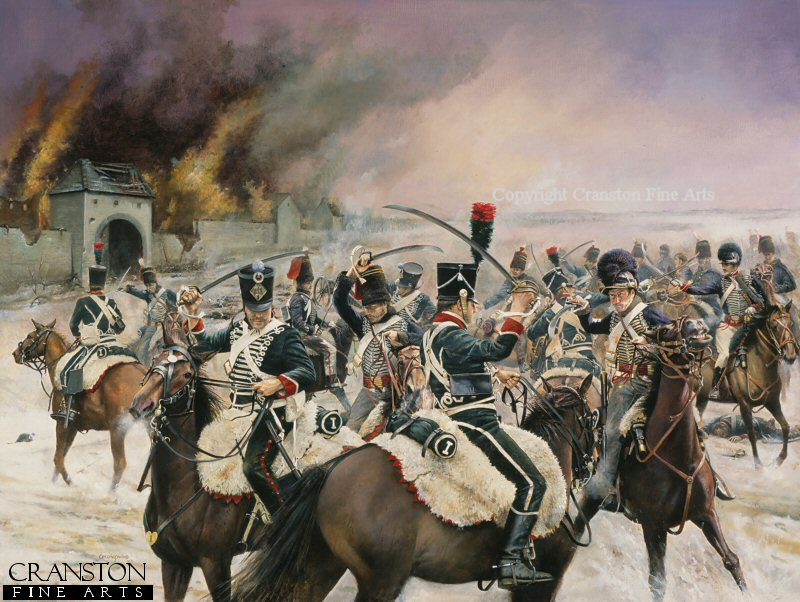 British 15th Light dragoons (and Hussars) and 16th Light Dragoons engage the French 1st Provincial Chasseurs during the Peninsula War