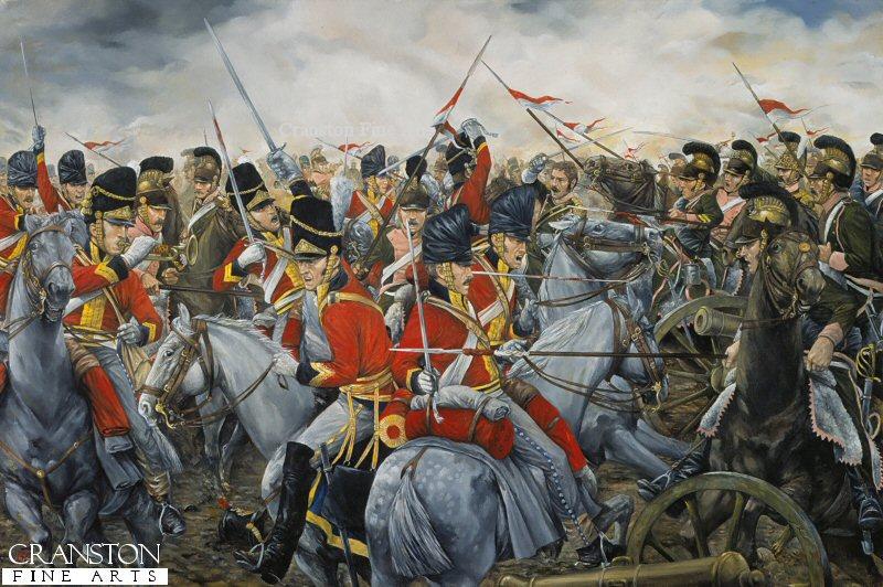 Charge of the 2nd royal north british dragoons scots greys at