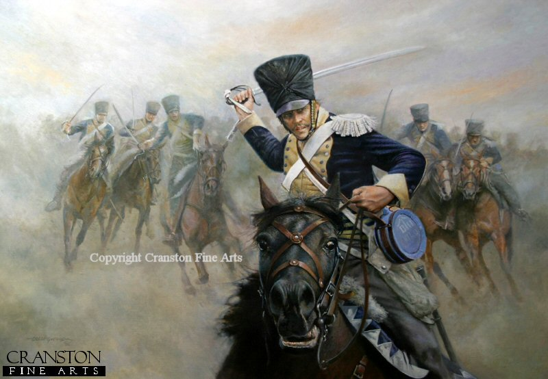 DHM1601P. Ride Like the Devil - the Charge of the 13th Light Dragoons at the Battle of Vittoria by Chris Collingwood.