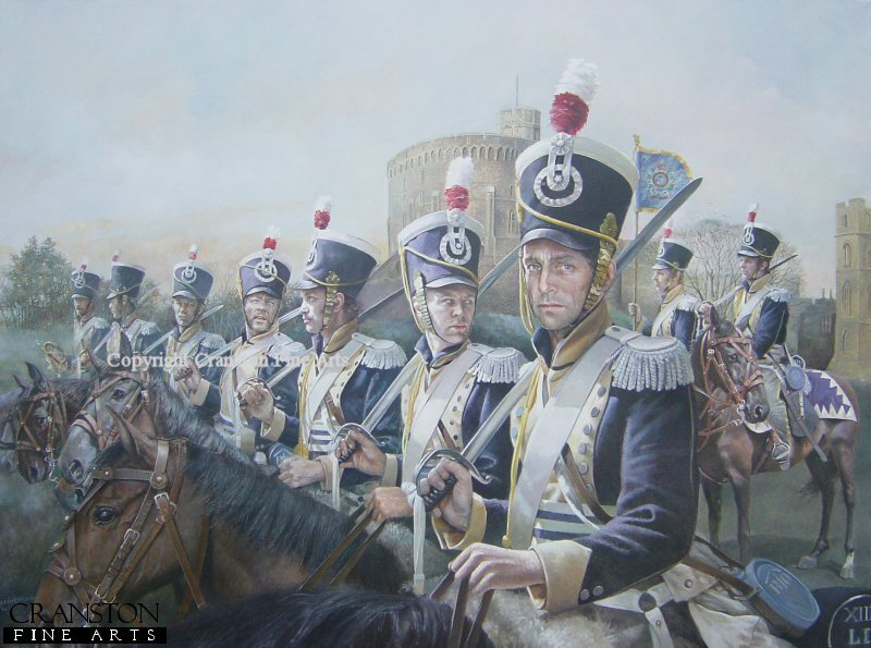 DHM1625P. 13th Light Dragoons at Windsor Castle by Chris Collingwood.