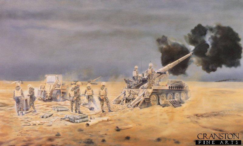 Lt general sir peter de la billiere 32 regiment royal artillery in the gulf war 1991 by david rowlands ap sciox Image collections