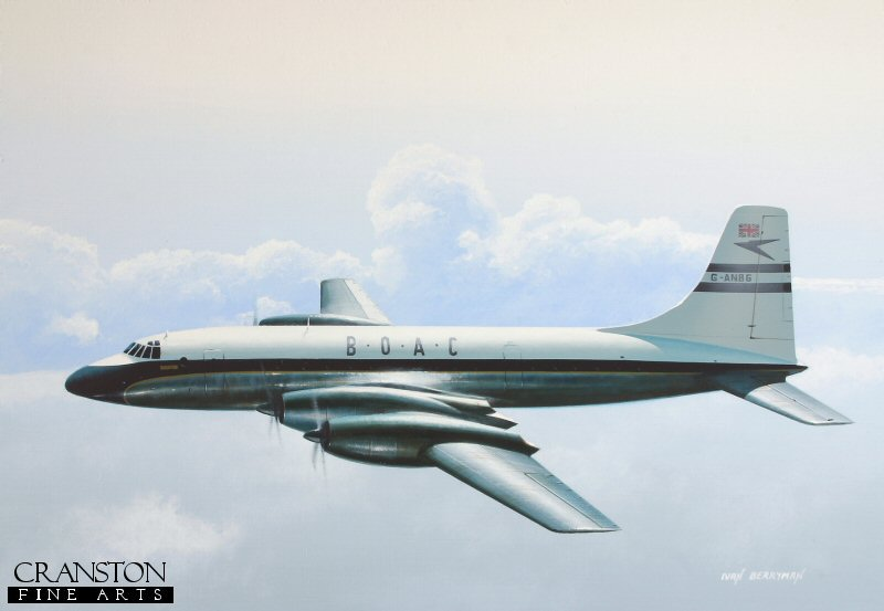 Often referred to as the 'Whispering Giant', Bristol's sleek Type 175 Britannia represented a milestone in turboprop airliner design, although it was already something of an anachronism by the time it entered service, as the jet age was just getting underway. Nevertheless, 85 Britannias were built before production ceased in 1960, many serving with BOAC, as exemplified by G-ANBG, seen here before being re-registered because superstitious pilots disliked the letters 'NBG', believing them to be an acronym of 'No Bloody Good!'.