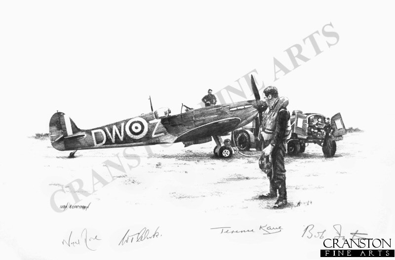 F/Lt Warner was shot down in combat with Bf 109s on 16th August 1940 at 17:15hrs off Dungeness.  He was flying Spitfire DW-Z (R6802).