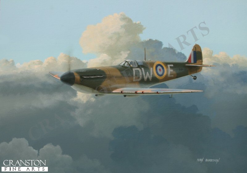 Spitfire P9433 DW-E of  No.610 flown by P/O Pegge, in which he shot down two Bf.109Es on 12th August 1940.