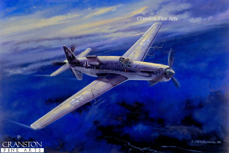Projected nightfighter development of the Do 335 with DB603 LA Piston and He SO11A jet engines.