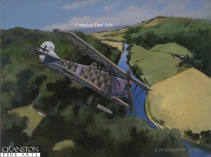Fokker DVII of Royal Bavarian Jagdstaffel 35b, flown by Leutnant Rudolf Stark, the new Jasta Commander.