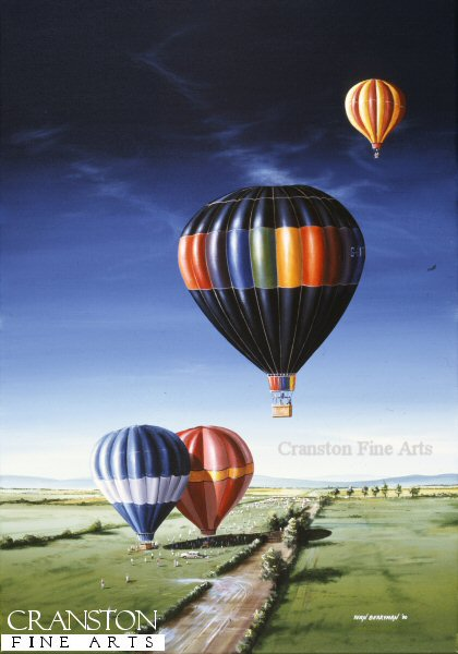 Hot air ballooning enthusiasts gather for a weekend meet.  There is not much to beat the feeling of sitting in a hot air balloon basket as you float across the countryside.