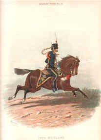 18th Hussars by Richard Simkin.