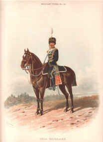 19th Hussars by Richard Simkin.