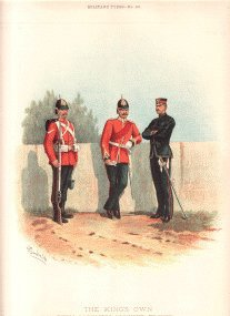 Kings Own Royal Lancaster Regiment (4th Foot) by Richard Simkin (P)