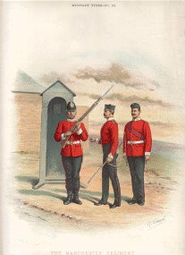 The Manchester Regiment (63rd and 96th foot) by Richard Simkin.