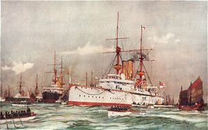 The Centurion Sir Edward Seymours Flagship in the Far East 1900 by Charles Dixon.