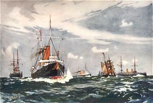 The Steam Training Squadron 1900 by Charles Dixon.