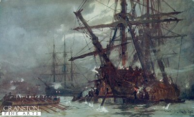 Cutting Out of the Hermione (Retribution) 1799 by Charles Dixon.