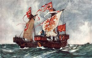 The First Battle of Our First Queen 1225 by Charles Dixon.