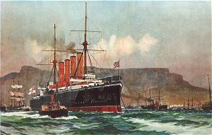 The Good Hope in Table Bay by Charles Dixon.