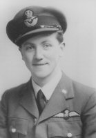 Born in Perth, Scotland, Alex Thom joined the RAFVR on June 24th 1939 and flew at the weekends at 11 EARFTS Perth. At the outbreak of World War Two, Thom was called up for full time service with the Royal Air Force and was posted to 3 ITW at Hastings on October 2nd 1939, moving to 15 EFTS at Redhill on April 29th 1940 and on June 15th moved again to 15 FTS, initially at Brize Norton and later to Chipping Norton. Alex Thom went to 6 OTU on September 29th at Sutton Bridge where he converted to Hawker Hurricanes and joined 79 squadron stationed at Pembury only for a short period when he was transferred to 87 Squadron on October 6th 1940, moving with the squadron on the 31st of October to their new base at Exeter. He achieved the rank of Pilot Officer on the 3rd of December 1941. During his time at Exeter he was also based on the Scilly Isles and on one occasion after shooting down an enemy bomber the crew bailed out over the sea. Alex Thom circled the downed German crew who were in a life raft until a motor launch came and picked them up. Thom would later meet the crew and was given a flying helmet by the German pilot, an item he still has today. Alex Thom was appointed B Flight commander on 10th July 1942 and was awarded the DFC on the 14th August 1942. At this time he was credited with two enemy aircraft destroyed and a probable He111. On the 19th of August 1942 while supporting the ground forces at Dieppe, his Hurricane (LK - M) was hit by ground fire and lost oil pressure. He managed to limp back to England where he made a forced landing at East Den. Thom managed to get back to his airfield as a passenger in a Master flown by Flt Sgt Lowe and immediately took off again in Hurricane (LK - A) back to Dieppe where he proceeded to strafe enemy positions. On the 1st of October 1942 he became F/O. In November 1942, 87 Squadron was transferred to North Africa. They were transported by ship to Gibraltar where the squadron flew sorties, and then onto North Africa. Thom was posted away from the squadron to be a flying control officer at Bone. He returned to 87 Squadron which was then based at Tongley and took command on June 27th 1943. He was again posted away from the squadron on September 27th returning to the UK with the Rank of Flight Lt. Thom became an instructor with 55 OTU at Annan on November 17th moving to Kirton in Linsay on March 12th 1944 to join 53 OTU. He was appointed Flight Commander Fighter Affiliation Flight at 84 (Bomber) OTU at Husbands Bosworth on May 19th 1944 and remained there until October 10th when he went to RAF Peterhead as Adjutant. His final posting was to HQ13 Group, Inverness on May 8th 1945 as a Staff Officer and retired from the RAF on December 4th 1945 as a Flight Lt