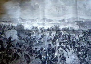 The Zulu War, Battle of Ulundi, The Final Rush of the Zulu's Against the British Squares by Richard Caton Woodville.