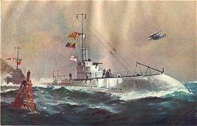 A Submarine of the O Class by Frank Mason.