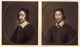 Henry Marten (left) by Sir Peter Lely and John Bradshaw (right) by Robert Walker.