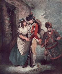 The Billeted Soldier's Departure Engraved by Graham after George Morland.