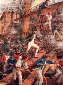 Nelson Boarding the San Nicholas by Howard Davie. (P)