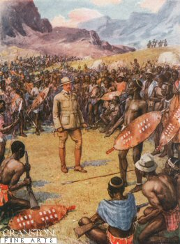 Cecil Rhodes with the Matabeles by Howard Davie (P)