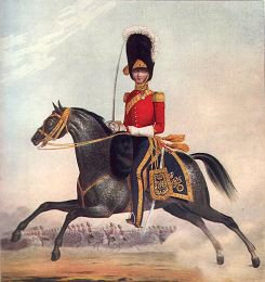 Officer of the 2nd (Royal North British) Dragoons by L Mansion & St Eschauzier (P)