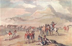 Military Scene, Landing Troops & Guns from a drawing by George Derville Rowlandson 1801