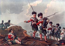 Bravery of a Piper of the 11th Highland Regiment, at the Battle of Vimiera by Clark and Dubourg after Manskirch