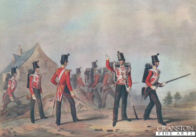 Regiments of Light Infantry (Showing the 90th Light Infantry) by J H Lynch after M A Haye