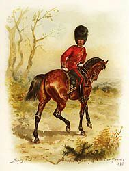 Mounted Officer of Grenadier Guards 1890 by Harry Payne.