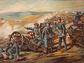 US Army Field Batteries, Malvern Hill 1862 by Werner (P)