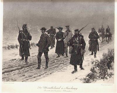 De Montbeliard a Strasbourg (En route pour les prisons Allemandes) by Alphonse de Neuville (P)