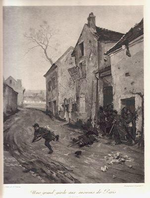 Une grand garde aux environs de Paris (1870-1871) by Henry Dupray (P)
