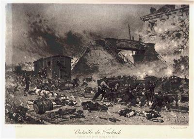 Bataille de Forbach (Episode de la gare de Styring 6 Aout 1870) by Alphonse de Neuville (P)