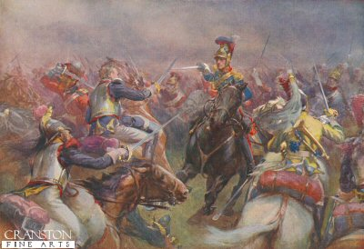 The Charge of the Heavy Brigade Against the Cuirassiers at Waterloo by Christopher Clark