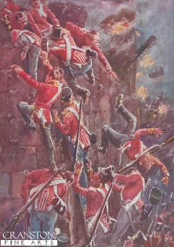 The Storming by Escalade the Ramparts of San Vincente at the Taking of Badajoz, April 6th 1812