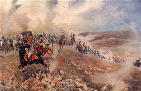 The Flight of King Joseph Bonaparte from Vittoria, June 21st 1813 by B Granville Baker