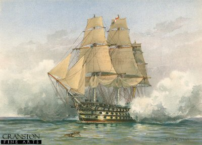 The Victory - Launched 1765 by W Fred Mitchell. (P)