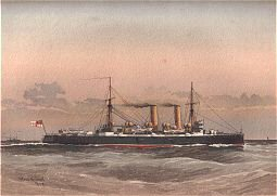 HMS Blenheim by W Fred Mitchell (P)