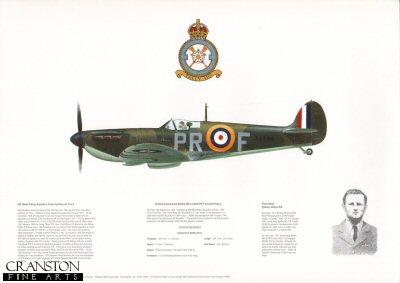 Vickers Supermarine Spitfire Mk Ia X4590 PR-F. by M A Kinnear.