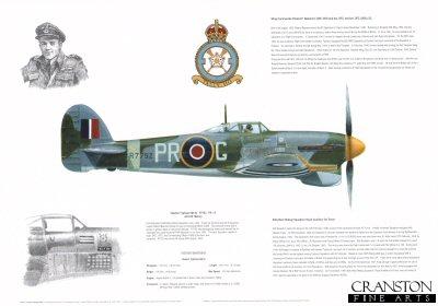 Hawker Typhoon Mk Ib R7752 PR-G. by M A Kinnear.