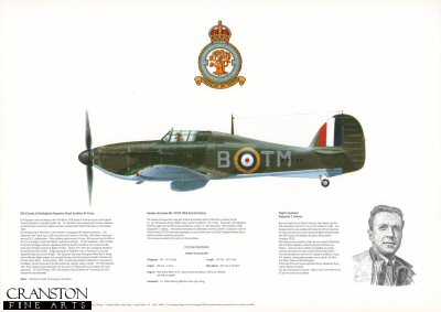 Hawker Hurricane MkI P2725 TM-B. by M A Kinnear.