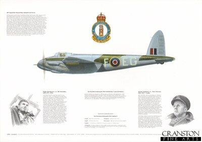De Havilland Mosquito FBVI HX922 EG-F. by M A Kinnear.