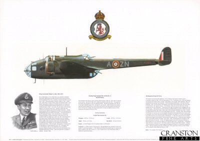 Handley Page Hampden Mk I AE193 ZN-A. by M A Kinnear.