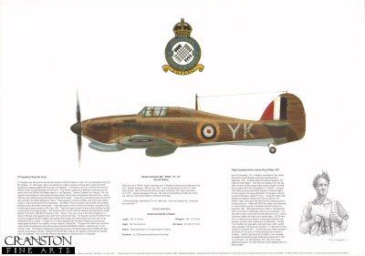 Hawker Hurricane Mk I P2544 YK (T) by M A Kinnear.